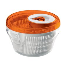 "<strong>Guzzini</strong> Latina 8"" Salad Spinner in Orange"