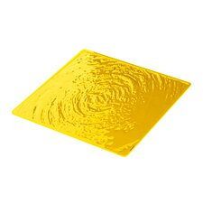 Aqua Plate Mat in Yellow