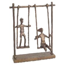 Children on Swings Figurine