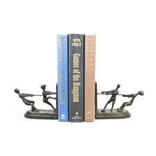Children Playing Tug of War Bookend (Set of 2)
