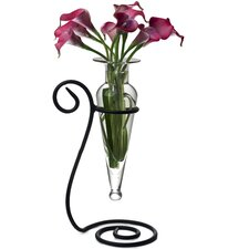Amphora Flower Vase on Swirl Stand