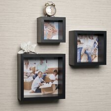 Photo Frame Wall Cube Shelf 3 Piece Set