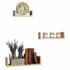 Fini 3 Piece Floating U Wall Shelf