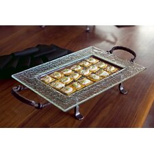 Glass Plate on Iron Stand