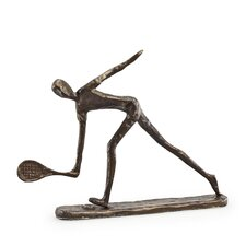 Male Tennis Player Sculpture