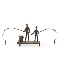 Children Fishing Sculpture