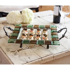 Square Glass Tile Platter