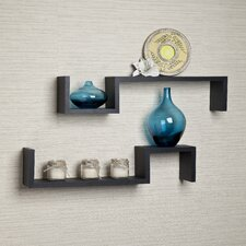 """S"" Wall Mount Shelves (Set of 2)"
