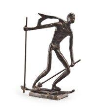 Downward Skier Sculpture