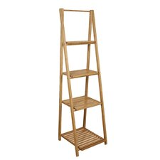 Bamboo Bathroom Ladder Shelf