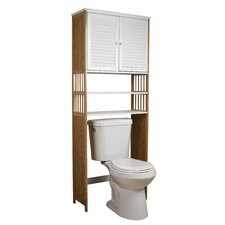 """Bamboo Bathroom 27"""" x 71"""" Over the Toilet Cabinet"""