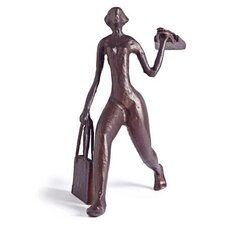 Shopaholic Woman in Cast Aluminum