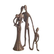 Family of Four in Cast Bronze