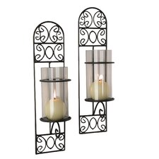 <strong>Danya B</strong> Filigree Wall Sconce Candle Holder (Set of 2)