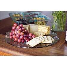 Artisan Glass Cheese Platter