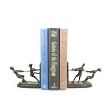 Children Playing Tug of War Book End (Set of 2)