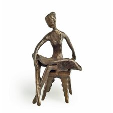 Ballerina Sitting with Legs Crossed Figurine