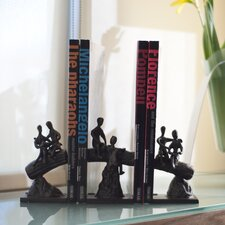 Children on a Tree Trunk Bookend (Set of 3)