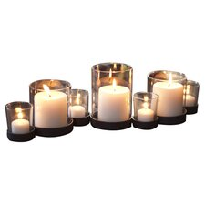 Bubbles Iron and Glass Candle Holder Set (Set of 7)