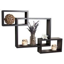 Carla 3 Piece Intersecting Wall Shelf