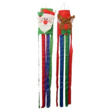 Christmas Wind Sock Christmas Decoration (Set of 2)