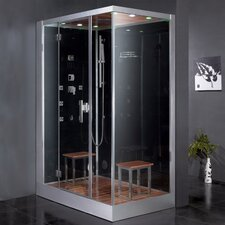 "Platinum 59"" x 35.4"" x 89.2"" Pivot Door Steam Shower with Left Side Configuartion"