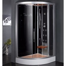 "Platinum 47.7"" x 35.4"" x 89"" Pivot Door Steam Shower with Right Side Configuartion"