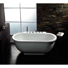 """71"""" x 37"""" Free Standing Whirlpool Tub"""
