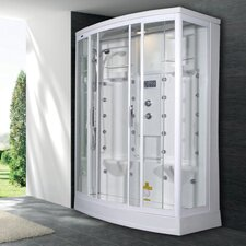 "Sliding Door 85"" x 56"" x 38"" Steam Shower with Left Side Configuration"