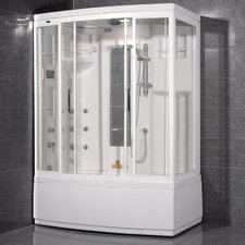 Aromatherapy Sliding Door Steam Shower with Bath Tub with Left Side Configuration