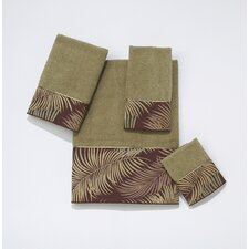 Tropical Leaves 4 Piece Towel Set