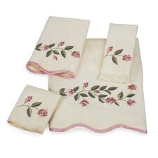Melrose Scallop 4 Piece Towel Set