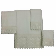 Eyelet Scallop 4 Piece Towel Set
