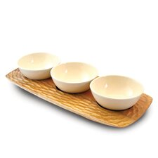 """Casual Dining 17.75"""" 3 Bowl Server"""