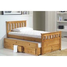 Bergamo Captains Bed Frame with Guest Bed Frame