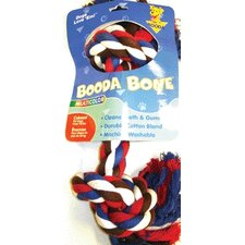 <strong>BOODA Pet Products</strong> Two Knot Rope Bone Dog Toy in Red, White and Blue