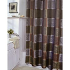 Resin Tiles Polyester Shower Curtain