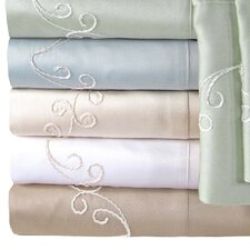 Supreme Sateen 300 Thread Count Scroll Pillowcase (Set of 2)
