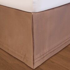 "<strong>Veratex, Inc.</strong> ""Hike Up Your Skirt"" Matte Satin Bedskirt in Taupe"