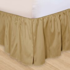 """Hike Up Your Skirt"" Ruffled Bedskirt in Taupe"