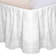 "<strong>Veratex, Inc.</strong> ""Hike Up Your Skirt"" Embroidered Bedskirt in White"