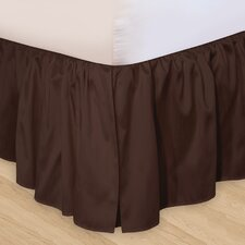 """Hike Up Your Skirt"" Ruffled Bedskirt in Chocolate"