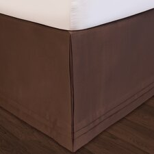 """Hike Up Your Skirt"" Matte Satin Bedskirt in Chocolate"