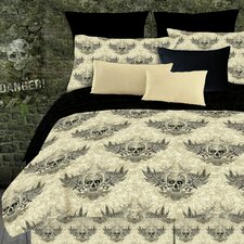 Winged Skull 2 Piece Comforter Set