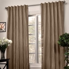 Swirl Stripe Window Treatment Collection in Espresso