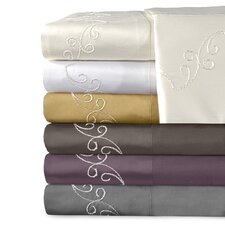 Supreme Sateen 800 Thread Count Cotton Scroll Pillowcase (Set of 2)