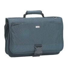 Nylon Laptop Messenger Bag in Blue