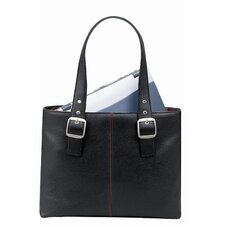"Classic 16"" Laptop Tote in Black"