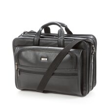 <strong>Solo Cases</strong> Classic Leather Laptop Briefcase