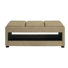 Open Triple Wood Bench